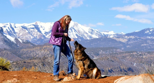 Annie loves training her clients' dogs in the mountains of Southwest Colorado. (Photo courtesy of Tica Clarke Photography.)
